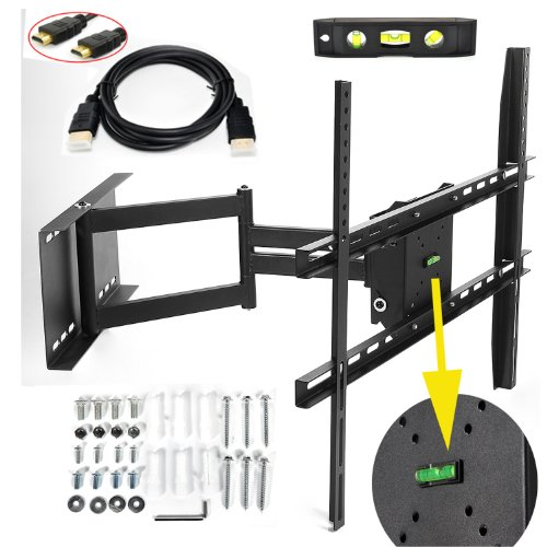 sharp aquos 60 lumsing universal corner tv wall mount bracket with full motion swing out. Black Bedroom Furniture Sets. Home Design Ideas