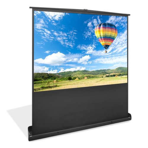 Large Portable Screen Rolled Up : Pyle prjsf inch floor standing portable easy roll