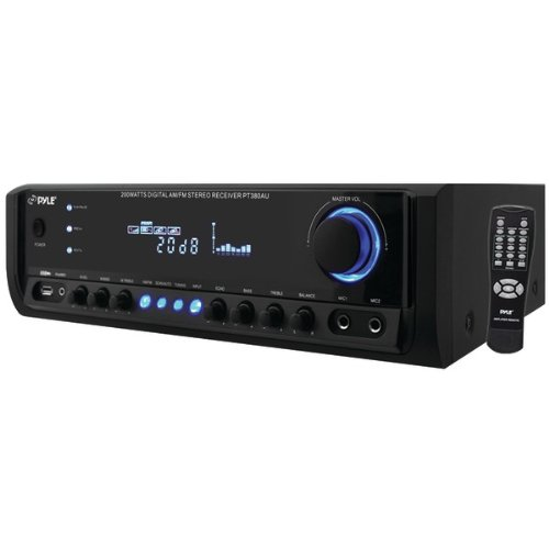 2 channel stereo receivers with usb