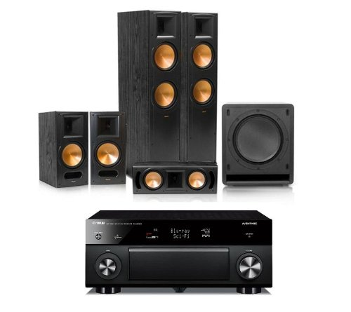 klipsch rf 82 ii reference 5 1 home theater package with. Black Bedroom Furniture Sets. Home Design Ideas